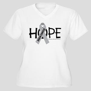 Brain Cancer Hope Women's Plus Size V-Neck T-Shirt