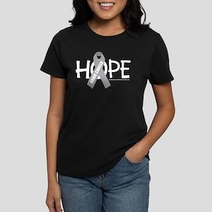 Brain Cancer Hope Women's Dark T-Shirt