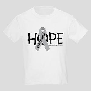 Brain Cancer Hope Kids Light T-Shirt