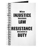 Resistance is a Duty Journal