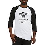 Resistance is a Duty Baseball Jersey