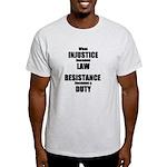 Resistance is a Duty Light T-Shirt