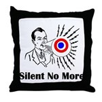 Silent No More Throw Pillow