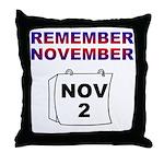 Remember November Throw Pillow