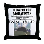 Flowers for Afghanistan Throw Pillow