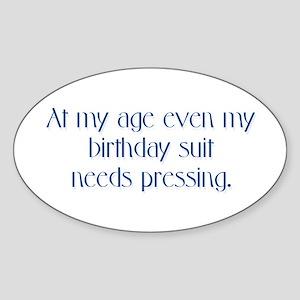 Birthday Suit Oval Sticker