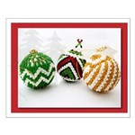 Christmas Beaded Balls Poster