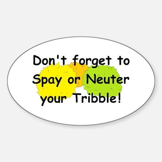Star Trek Tribbles! Sticker (Oval)