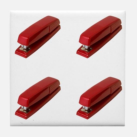Red Stapler, Tile Coaster