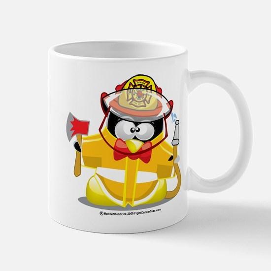 Fireman Penguin Mug