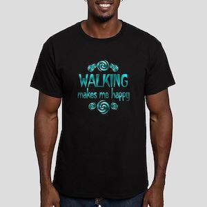 Walking Men's Fitted T-Shirt (dark)