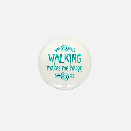 Walking Mini Button
