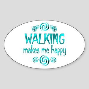 Walking Sticker (Oval)