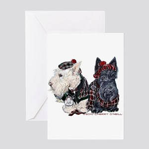 Scottish Highland Terriers Greeting Card