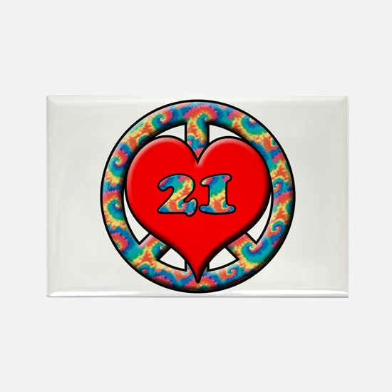 Cool Turning 21 Rectangle Magnet