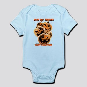 Mean and Rotten Halloween Pumpkins Infant Bodysuit