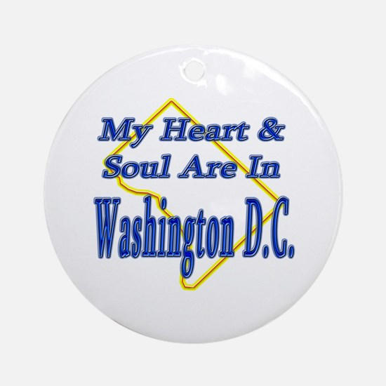 Heart & Soul - Washington D.C. Ornament (Round)