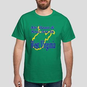 Heart & Soul - West Virginia Dark T-Shirt