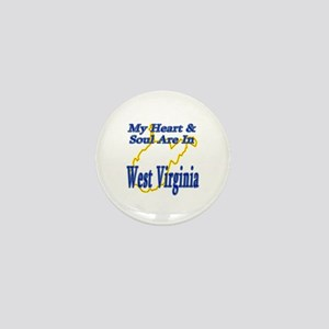 Heart & Soul - West Virginia Mini Button