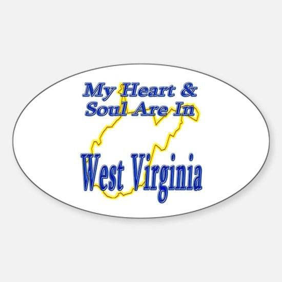 Heart & Soul - West Virginia Sticker (Oval)