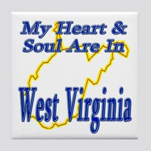 Heart & Soul - West Virginia Tile Coaster