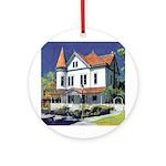Victorian mansion Ornament (Round)