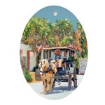 Horse and carriage Ornament (Oval)