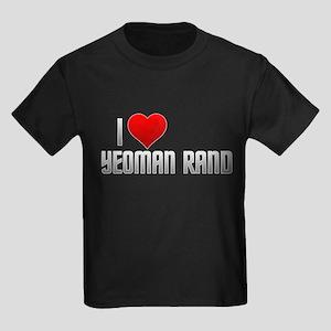 I Heart Yeoman Rand Kids Dark T-Shirt