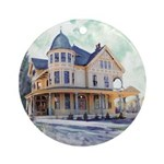 Winters Day Ornament (Round)
