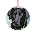 Black Labrador Ornament (Round)