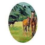 Riccoboni Horses Ornament (Oval)