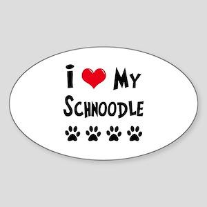 Schnoodle Sticker (Oval)