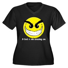 I Feel A Sin Coming On! Women's Plus Size V-Neck D