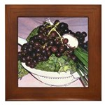 Broccoli and Grapes - Framed Tile