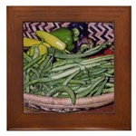 Green Beens and Peppers - Framed Tile