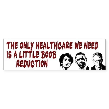 Boob Reduction Bumper Sticker