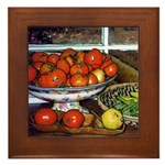 Tomatoes and Green Beans - Framed Tile