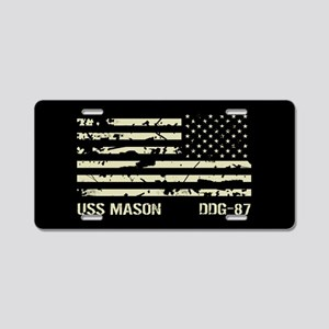 USS Mason Aluminum License Plate
