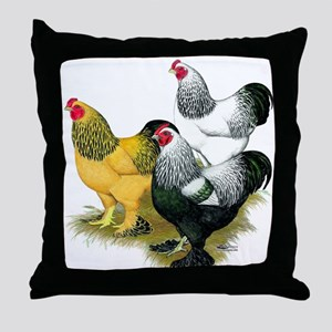 Brahma Rooster Assortment Throw Pillow