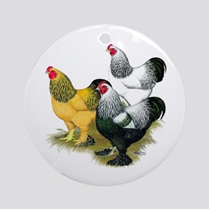 Brahma Rooster Assortment Ornament (Round)