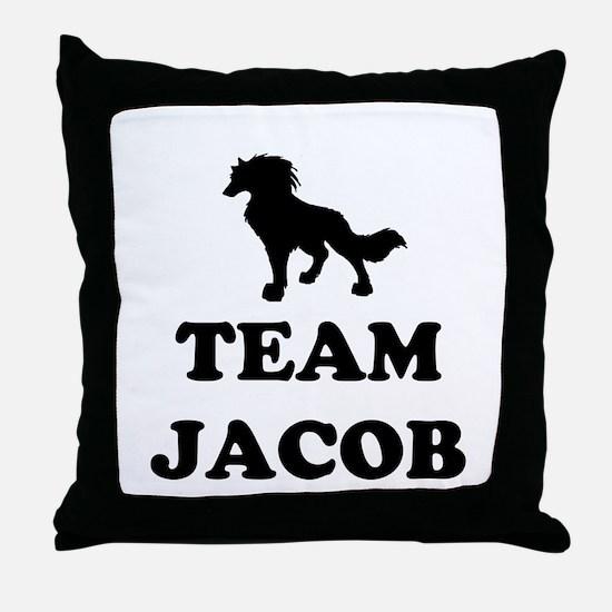 """Team Jacob"" Throw Pillow"