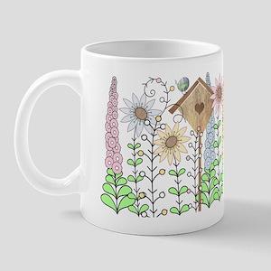 Folk Art Cottage Garden Mug