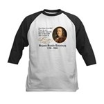 Ben Franklin Life-Time Quote Kids Baseball Jersey