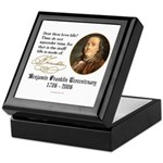 Ben Franklin Life-Time Quote Keepsake Box
