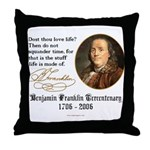 Ben Franklin Life-Time Quote Throw Pillow