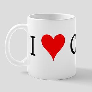 I Love Cajuns Mug