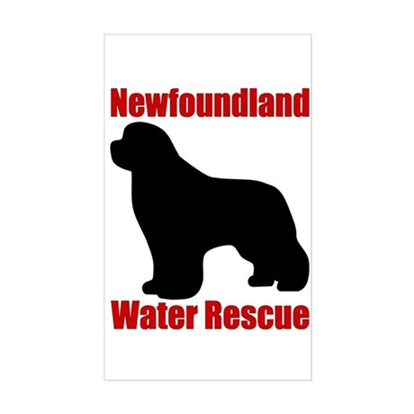 Water Rescue with Silhouette Sticker (Rectangle)