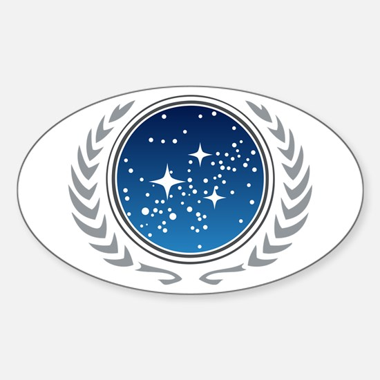 Federation of Planets Sticker (Oval)
