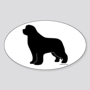 Newfoundland Silhouette Sticker (Oval)