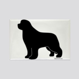 Newfoundland Silhouette Rectangle Magnet